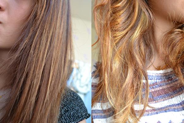 Coloration pour cheveux chatain clair