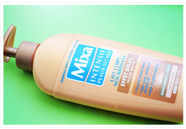 Mixa lait corps effet soleil