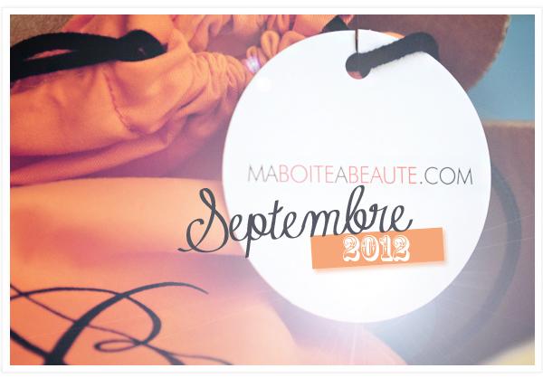 Ma boite à beauté septembre
