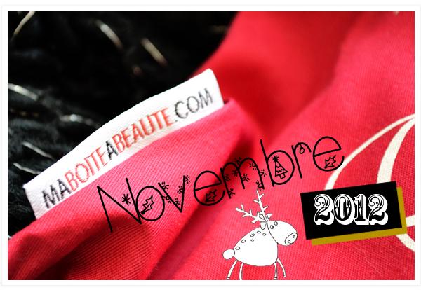 Ma boite à beauté Novembre