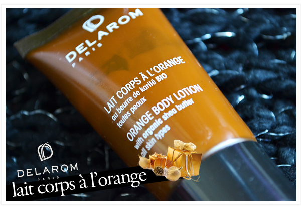 delarom lait corps orange