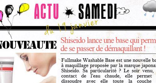 #ActuSamedi - Edition du 19/01/13