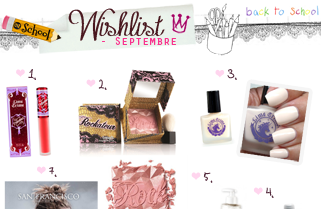 Wishlist Septembre / Mes envies - Mes inspirations